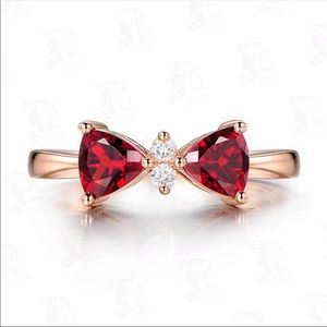 Jewelry - Red Bow Knot Ring Women Ring